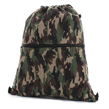NEW STAR 輕便潮流帆布迷彩前口袋束口包後背包 BK187