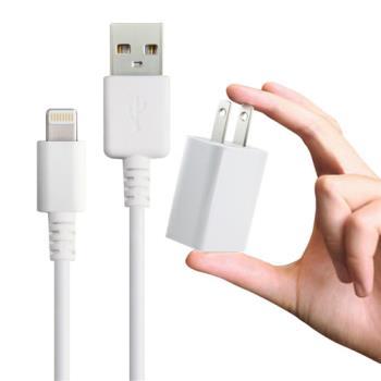 電池王iPhone 6S / 6S PLUS / iPad Air 2/ mini2 /3/ 4 等專用充電組 (旅充頭+充電傳輸線)