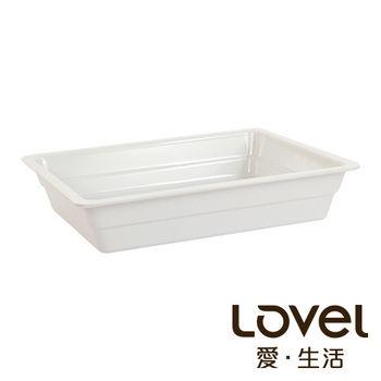 LOVEL 象牙瓷白buffet餐盤(GN1/2 65mm)