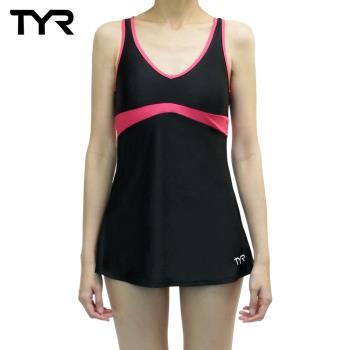 美國TYR女用修身連身裙泳裝Celsia Swim Dress Peach台灣總代理