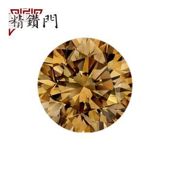 【精鑽門】圓形香檳彩鑽一對 0.32+0.32克拉 Fancy Yellowish Brown / VS2