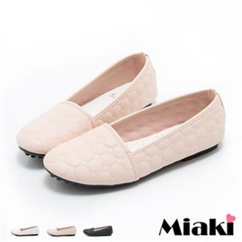 【Miaki】MIT 娃娃鞋韓劇經典優雅平底包鞋(粉色 / 黑色 / 白色)