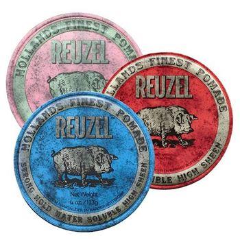 Reuzel 粉紅豬/紅豬/藍豬 水洗式豬油油性髮蠟(40z/113g)