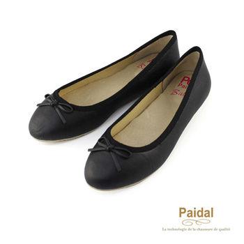 Paidal OL氣質款小蝴蝶節娃娃鞋/包鞋-黑