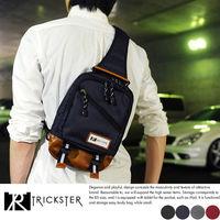 ~TRICKSTER~ 品牌 斜背包7個口袋 腳踏車包 B5 單肩背包 多夾層機能包~tr