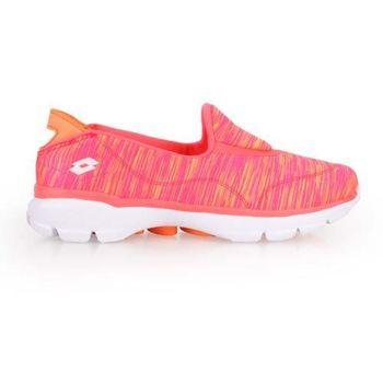 【LOTTO】女健體步行鞋 -休閒 健走 運動 走路鞋 粉橘