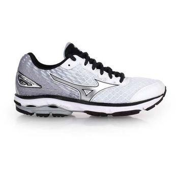【MIZUNO】女慢跑鞋 WIDE WAVE RIDER 19 - 寬楦 白淺灰