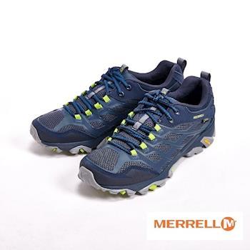 MERRELL 透氣綁帶運動鞋 男鞋-藍