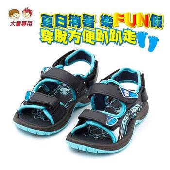 【HANG TEN】清涼消暑涼鞋-大童款 (HT212)