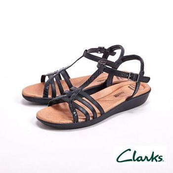 【Clarks】Manilla Porta夏日羅馬涼鞋 女鞋-黑(另有銀)