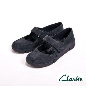 【Clarks】Tri Amanda 魔鬼沾三瓣底淺口運動涼鞋 女鞋-黑(另有白)