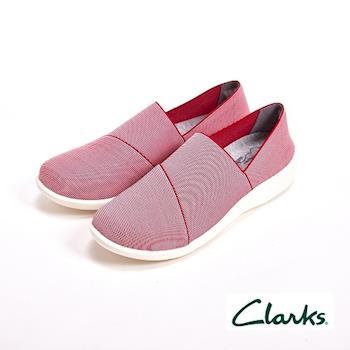 【Clarks】舒適輕便休閒直套式 女鞋-粉(另有藍)