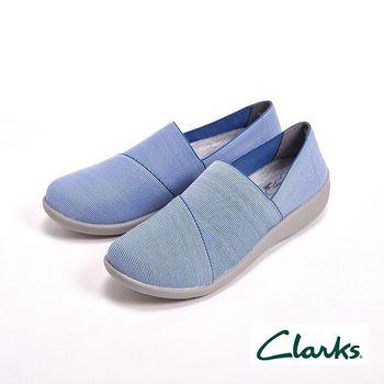 【Clarks】舒適輕便休閒直套式 女鞋-藍(另有粉)