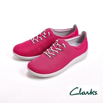 【Clarks】輕量級 極輕便透氣運動鞋 女鞋-桃(另有藍)