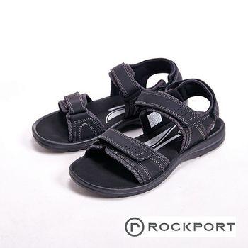 ROCKPORT 夏季舒適減壓可調節休閒鞋 男鞋-黑(另有咖)