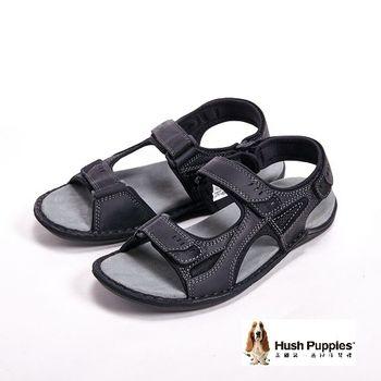 Hush Puppies 男士夏季日常防滑休閒涼鞋-黑(另有咖)