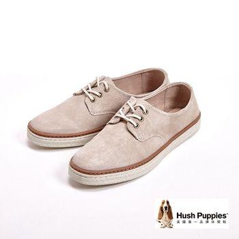 Hush Puppies 夏日海洋帆布鞋-米