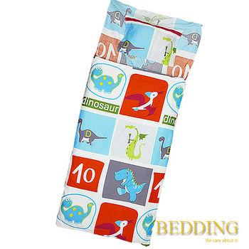 BEDDING 侏儸紀公園   100%棉 多功能冬夏兩用鋪棉兒童睡袋