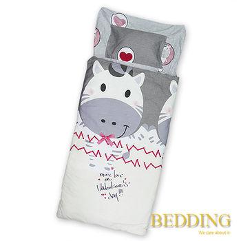 BEDDING 小奶牛-灰   100%棉 多功能冬夏兩用鋪棉兒童睡袋