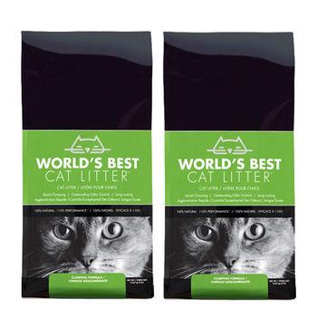 【World's Best Cat Litter】世嘉 原味清香 強效凝結玉米砂 14磅 X 2入