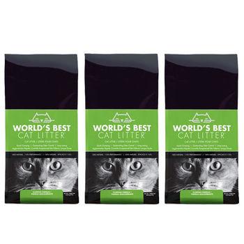 【World's Best Cat Litter】世嘉 原味清香 強效凝結玉米砂 7磅 X 3入