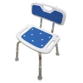 【海夫健康生活館】EVA坐墊 高度可調 有靠背 洗澡椅