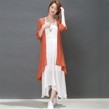 【Jisen】柔情知性類棉麻洋裝