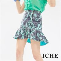 ~ICHE 衣哲~滿版印花人魚短裙
