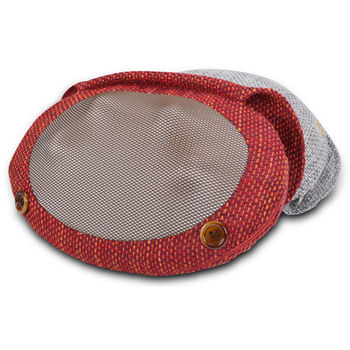【tokuyo督洋】溫感揉捏編織蛋蛋枕 TH-518(烈焰紅)