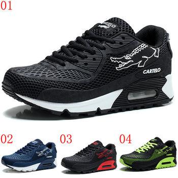 (預購)【CARTELO卡帝樂鱷魚】C3807男鞋潮鞋air max90透氣墊運動休閒鞋軟底跑鞋子(JHS杰恆社)
