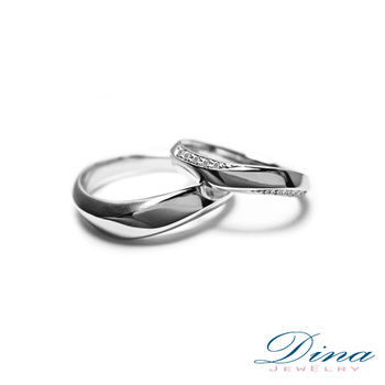 DINA JEWELRY 蒂娜珠寶 『擁抱』系列 結婚對戒(預購)