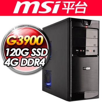  微星平台 黑旋風 G3900 微星 H110M PRO-VD PLUS 120G SSD 4G D4 400W大供電 平價桌上型電腦
