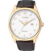 CITIZEN 星辰 光動能紳士簡約 皮帶腕錶 ^#47 42mm ^#47 BM7322