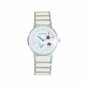 【 Daniel Wang】花樣年華繽紛晶鑽女腕錶