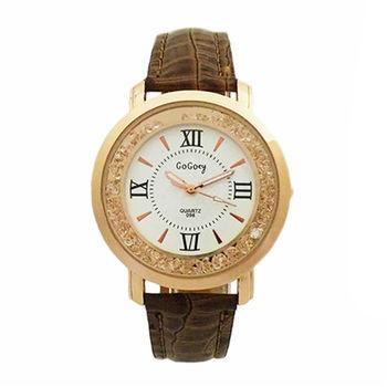【GOGOey】羅馬時光璀璨晶鑽閃動腕錶