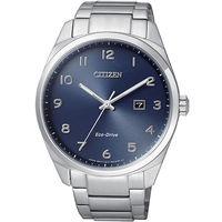CITIZEN 星辰 簡單 光動能男用不鏽鋼腕錶 ^#47 42mm ^#47 BM732