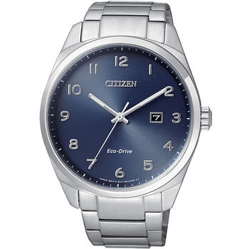 CITIZEN 星辰 簡單生活光動能男用不鏽鋼腕錶/42mm/BM7320-87L