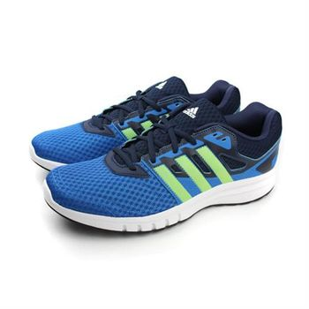 adidas galaxy 2 m 跑鞋 藍綠 男款 no304