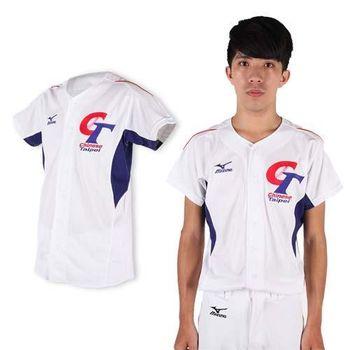 【MIZUNO】白藍紅-限量中華台北男女加油短袖T恤- 棒球衣 美津濃