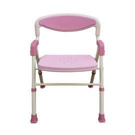 【海夫健康生活館】可折疊EVA坐墊有靠背洗澡椅 (粉紅)