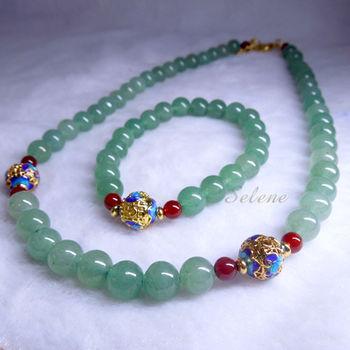 【Selene 珠寶】高貴典雅東陵玉套組