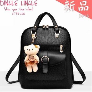 Dingle - 新款春夏小熊吊飾後背包*4色