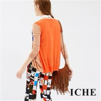 【ICHE 衣哲】色塊拼接針織外套
