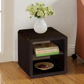 【咱的厝】DIY極簡造型小茶几桌/邊桌/置物櫃(胡桃色)