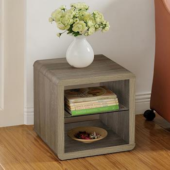 【咱的厝】DIY極簡造型小茶几桌/邊桌/置物櫃(深橡色)