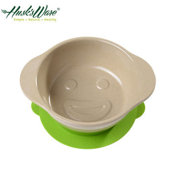【美國Husk's ware】稻殼天然無毒環保兒童微笑餐碗-綠色
