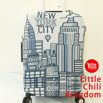 LittleChili行李箱套525-紐約白 M