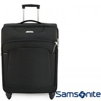Samsonite新秀麗超輕量布面拉桿四輪可加大安全線鎖海關25吋行李箱登機71R