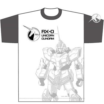 heroesunited 鋼彈 RX-0 獨角獸鋼彈 100% 純棉短T 白T 高達 GUNDAM