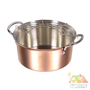 職人 銅製 天婦羅鍋 油炸鍋 16CM / 日本製